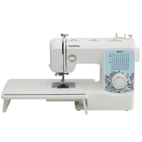 Brother XR3774 Full-Featured Quilting Machine with 37 Stitches, 8 Sewing Feet, Wide Table, and Instructional DVD, 8 Included Sewing Feet, Red, 8 Included Sewing Feet