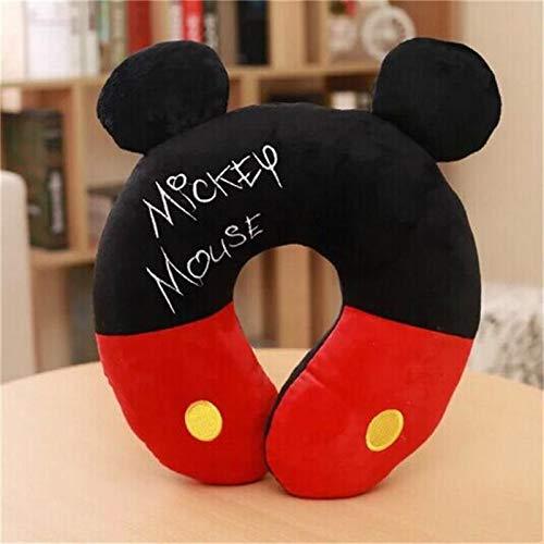 Weichuang almohada de viaje Mickey Minnie Mouse Kawaii de dibujos animados en forma de U almohada de cuello en la oficina de almuerzo pausa portátil almohada hombres y mujeres regalos de cumpleaños
