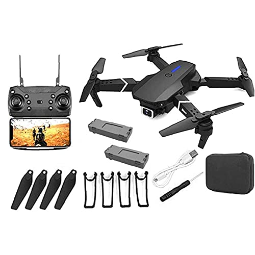 GPS Drone E88 Pro para Adultos 4K Pro Cámara Plegable Video en Vivo Drone RC Quadcopter Aviones con Sistema APK, Video, Tiempo Real, Transmisión, One Key to Return, 1 Baterías