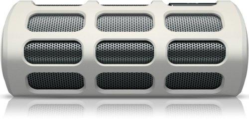 Philips SB7220/12 Shoqbox Weiß Tragbarer Bluetooth-Lautsprecher (mit integriertem Mikrofon und Berührungssensor)