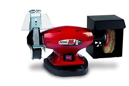 Femi 36N Smerigliatrice/Pulitrice da Laboratorio, 150 mm, Rosso