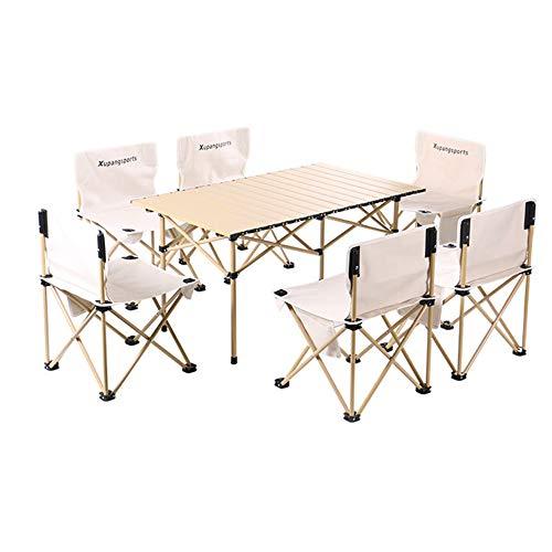 Mesa de Camping Plegable Silla Portátil Table Mobiliario de Exterior Plegables Ligeros Equipo de Viaje de Picnic para Playa Senderismo Pesca Barbacoa,E