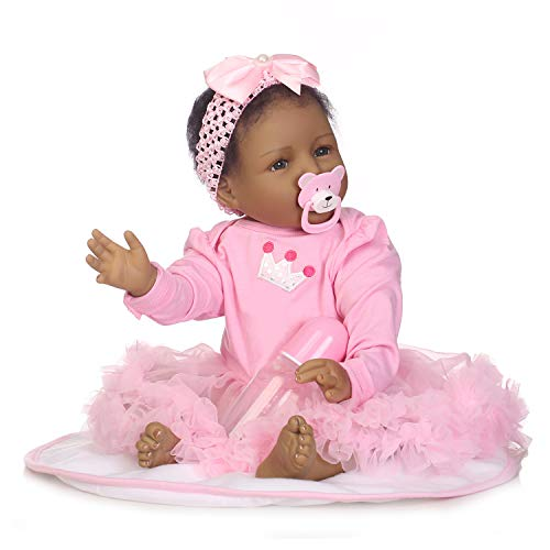 Zero Pam Biracial Reborn Baby Doll Black African American Baby Girl 22 inches Prime Cute Realistic Baby Black Skin Kids Toys