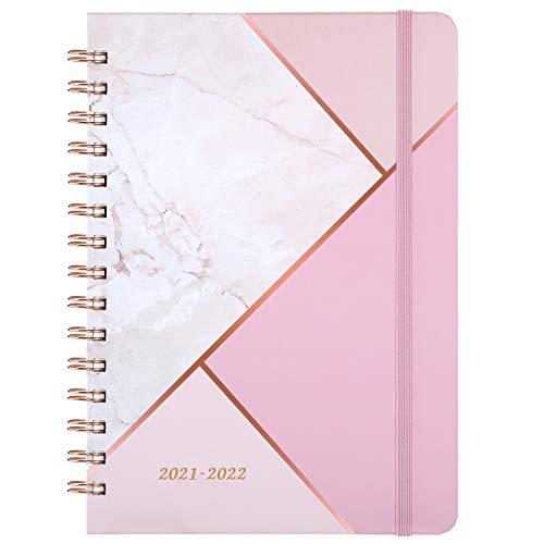 Kalender 2021 2022 - A5 Wochenplaner von Juli 2021 bis Juni 2022, 15x21cm Lebensplaner, pink