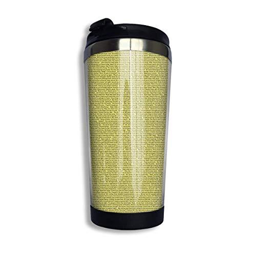 vfrtg Taza de viaje de vaso de acero inoxidable The Entire Bee Movie Script Insulated Vacuum Stainless Steel Tumbler Cup 13.5oz Coffee Travel Mug