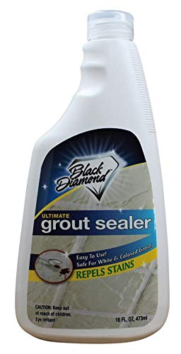Black Diamond Stoneworks Ultimate Grout Sealer: Stain Sealant Protector for Tile, Marble, Floors, Showers and Countertops.