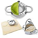 NOBGP 2 Paquetes de Dumpling Maker Acero Inoxidable Empanada Press Ravioli Dough Press Pastry Dumpling Cortador de Molde Grande y pequeño para Accesorios de Cocina para el hogar