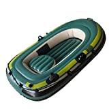 ZzheHou Kayaks Inflables El Bote de Pesca Engrosado de PVC Inflable portátil Doble for Kayak es Ideal for Lagos y ríos Suaves (Color : Green, Size : 200x120x35cm)