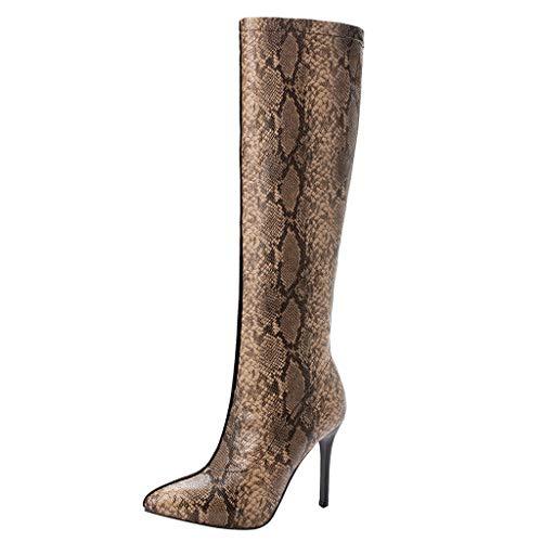 Patron Dameslaarzen van slangenleer, kleur naadlaarzen, fijne Romeinse vintage-laarzen, lang samen, kant hiel hoog smal mode herfst en winter casual