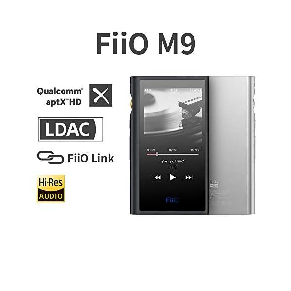 FiiO M9 High Resolution Lossless Music MP3 Player with aptX, aptX HD, LDAC HiFi Bluetooth, USB Audio/DAC,DSD128 Support and WiFi/Air Play Full Touch Screen