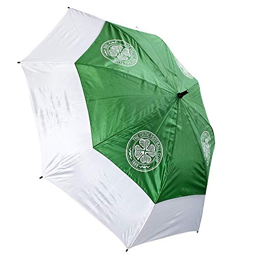Celtic FC Double Canopy Golf Umbrella (One Size) (Green/White)