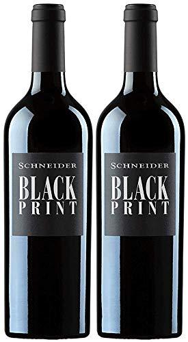 Markus Schneider Black Print 2019 Paket | Rotwein aus Deutschland (2 x 0.75l) | Trocken | Pfalz