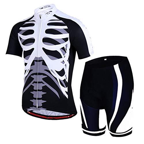 ZOSUO Maillots de Ciclismo Hombres Respirable Secado rápido Camiseta y Pantalones Cortos...