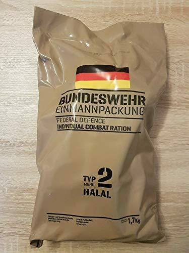 Armee Bundeswehr EPA Halal 2 BW MRE EINMANNPACKUNG Camping Essen Food Meal