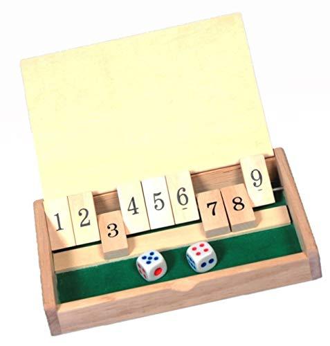Der kleine Taktiker | Spiel | Kinderspiel aus Holz |+Minis Punktestandtabelle| Spiel | Kinderspiel aus Holz | Reisespiel | shut the box | 2 Personenreisespiel Der kleine Taktiker | 2 Personen