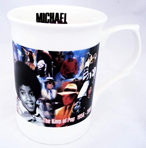 "Porzellantasse Michael Jackson ""The King of Pop"", Tribut, von Hand bemalt"