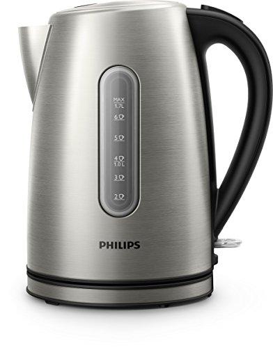 Philips Viva Collection hd9327/111.7L 2200W schwarz, Edelstahl–Wasserkocher (2200W, AC, 220–240, 50/60, 207mm, 156mm)