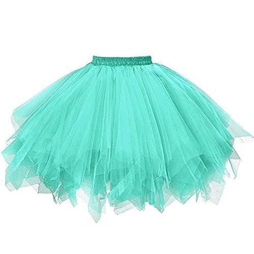 Aiserkly 50er Jahre Retro Tutu Tüllrock Damen Vintage Petticoat Reifröcke Unterrock für Rockabilly Kleid Festliches Kleid Brautkleid Ballkleid Mini Kleid Empire H