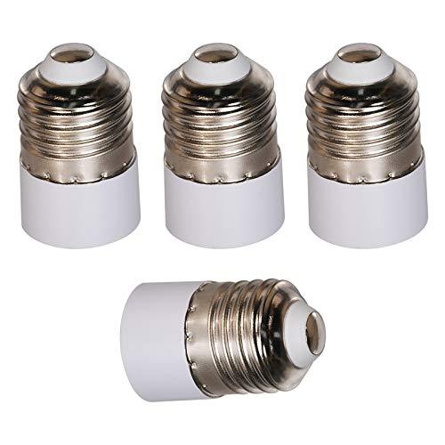 OeyeO 4 unidades Conversión portalámparas E27 a E14 blanco Socket Converter Adaptador para bombillas LED