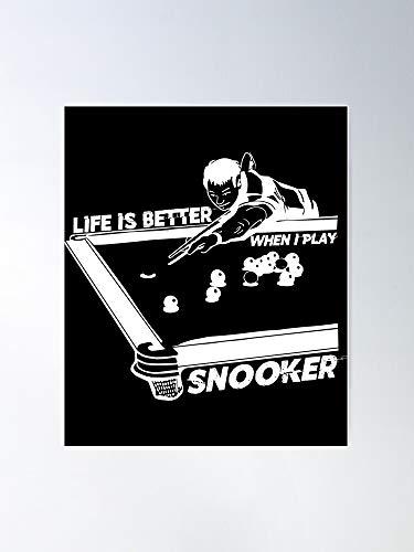 Funny Tips Sport Shots Snooker Live UK I FSGdecor-Impressive and Trendy Poster Print Decor Wall or Desk Mount Options