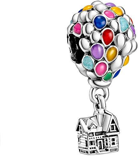 LaMenars Topo Charms per braccialetti per donna 925 Sterling Silver ciondola ciondolo con perline Regali per donna Collana braccialetto ragazza (UP House)