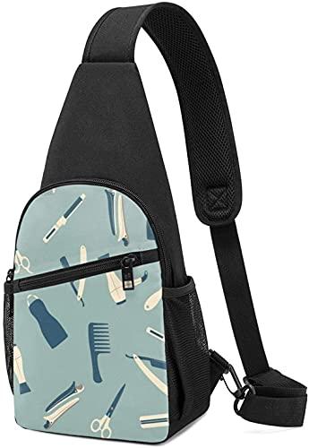 Mochila de pecho para senderismo, viajes, mochila para hombres, mujeres, herramientas de peluquería, paquete de pecho, bandolera, hombro en el pecho
