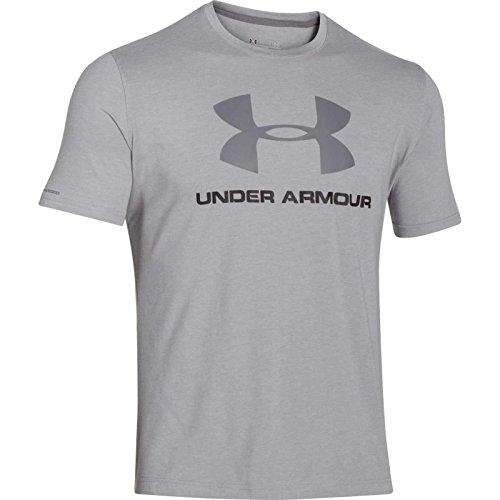 Under Armour Cc Sportstyle Logo Camiseta de Manga Corta, Hombre, Gris True Grey Heather, M