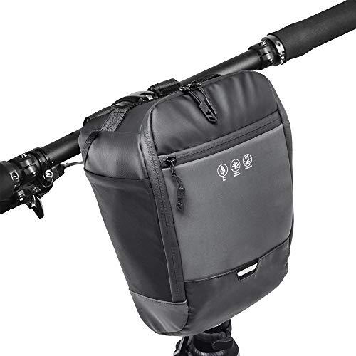 Laelr Fahrradlenker-Tasche, multifunktionale Rennrad-Frontrahmen-Oberrohr-Aufbewahrungstasche Abnehmbarer Riemen Fahrradkorb Packung Reflektierende Fahrradtasche