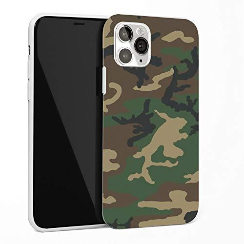 Keyihan Cover per iPhone SE 2020 e iPhone 7 e iPhone 8 Custodia Antiurto in Morbido TPU Silicone Motivo Mimetico Disegni Texture Finitura Opaca Protettiva Case Paraurti 4.7' (bosco Camo)
