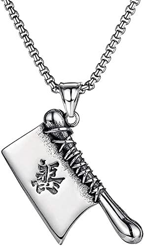 Halskette Japan und Südkorea Hip Hop Rock Gut und Böse Küchenmesser Herren Titanstahl Halskette Valentinstag Geburtstag