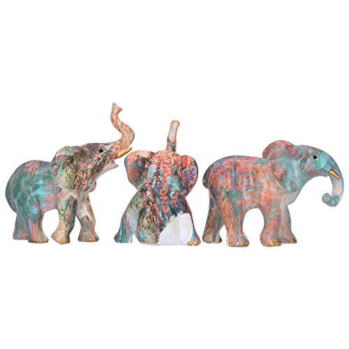 Jingyig Figura de Elefante, Adorno de Elefante Hermosa Estatua de Elefante de Resina de Resina Duradera, para decoración de Escritorio Gabinete de Vino Decoración del hogar Regalos de inauguración