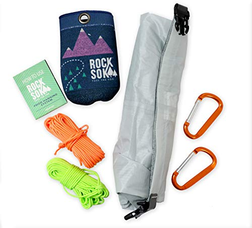 Selkirk Design Ultralight Food Bag Hanging System - Includes a Waterproof Bear Bag, Pulley System with Paracord Nylon Ropes & Carabiners, Rock Sok, and Instructions
