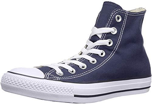 Converse Unisex Chuck Taylor Classic High Top Canvas Sneakers (10.5 Women/8.5 Men, Navy)