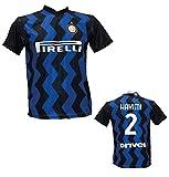 DND D'ANDOLFO CIRO Fußballtrikot Inter Hakimi 2 Replika authorisiert 2020-2021 Größen für Kinder und Erwachsene, Schwarz , L (adulto)