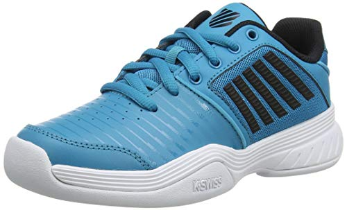 K-Swiss Performance KS TFW Court Express Carpet WHT Tennisschuh, Algiers Blue/Black/White, 38 EU