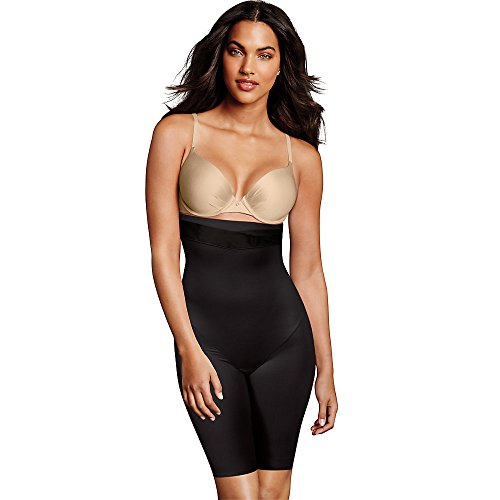 Maidenform Skin Spa Firm Control High-Waist Thigh Slimmer, L, Black