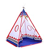 Indian Zelt, Kinder im Freienzelt Leichtes Spiel-Zelt for Kinder Spielzelte - 104 * 104 * 125CM - Blau, Pink - Traum Zelte for Kinder (Color : Pink, Size : 104 * 104 * 125CM)