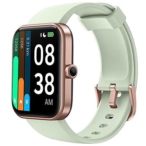 YONMIG Smartwatch, 1.69' Táctil Completa Reloj Inteligente Impermeable 5ATM para Hombre Mujer con Alexa Integrad, Pulsera Actividad Inteligente con Monitor de Sueño, Oxígeno de Sangre para, Pulsómetro
