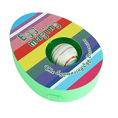 Kit de pintura de huevos de Pascua, máquina de decoración de huevos de Pascua con giratorio de huevos, incluye 8 marcadores de secado rápido coloridos, regalo para niños para cumpleaños, día de Pascua