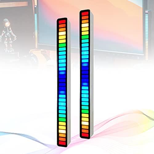 Analizador Espectro Musical, Espectro MúSica EstéReo MúLtiples Modos Color Luz Tenue, Medidor Audio MúSica Espectro AutodeteccióN Filtro Ruido,D