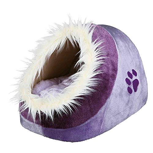 Trixie 36300 Kuschelhöhle Minou, 35 × 26 × 41 cm, lila/violett