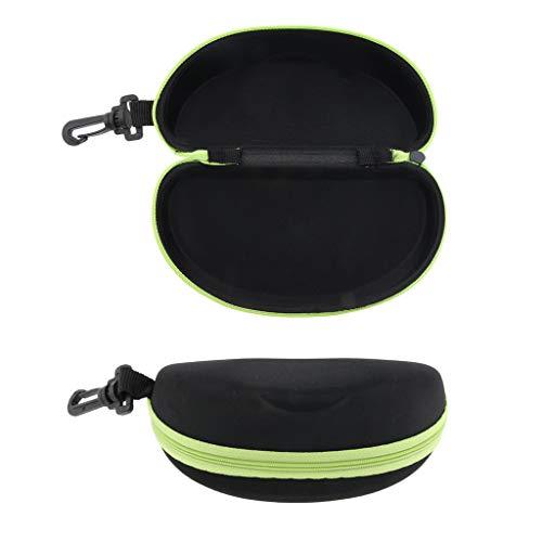 Sharplace 2X Portable Zipper Spectacle Sunglass Eyeglass Case Box Storage Pouch - Green, as described