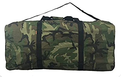 Heavy Duty Cargo Duffel Jumbo Gear Bag Army Big Drum Set Equipment Hardware Bags Large Camouflage Square Sport Duffle 30 Inch Military Oversize Rooftop Travel Bag Huge Rack Roof Traveling Roofbag Camo