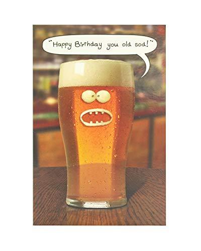 Biglietto Di Auguri Di Compleanno Per Lui, Divertente Biglietto Di Auguri Per Gli Uomini, Biglietto Di Compleanno Con Birra 342590-0-1