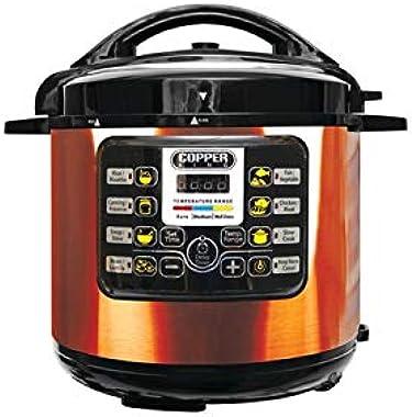 6 Quart Copper Non-Stick Pre-Set Programmable Pressure Cooker