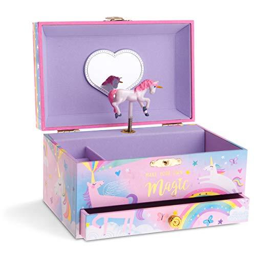 Jewelkeeper - Caja Musical para Joyas para Niñas, con Unicornio Algodón de...