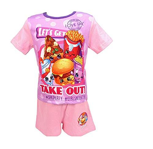 Shopkins - Pijama corto para niña (talla 4, 5, 6, 7, 8, 9 y 10 años) Despegue 4-5 Años