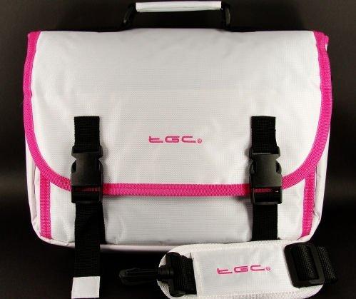 Nieuwe Cool White & Hot Pink Trims Messenger Case Tas voor T Mobile G-Slate Tablet