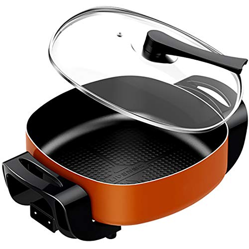 Antihaft-Elektroherd, geeignet zum Braten, Schmoren und Kochen - hält auch Speisen warm, 41 cm Pizzatopf Partytopf Elektro-Bratpfanne