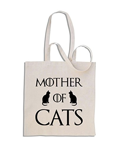 Mother of Cats - Game of Thrones Parodie - Mango Largo Bolso De Compras De Algodón
